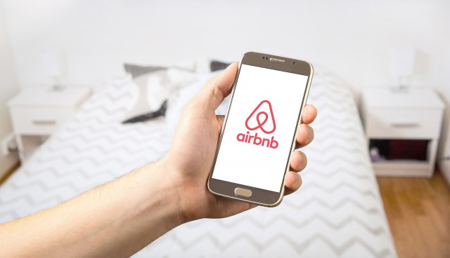 Airbnb rental app on a smartphone