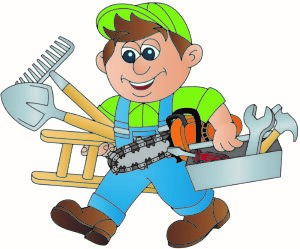 Worker repairing a rental property as a rental expense